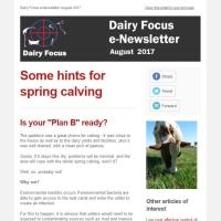 Dairy Focus e-Newsletter August 2017
