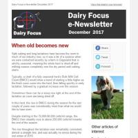Dairy Focus Newsletter December 2017