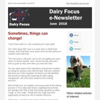 Dairy Focus Newsletter June 2018