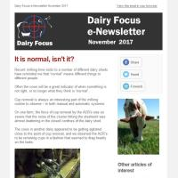 Dairy Focus Newsletter November 2017