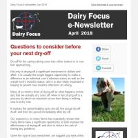 Dairy Focus Newsletter April 2018