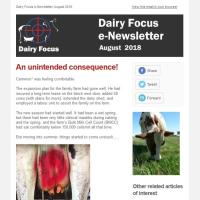 Dairy Focus Newsletter August 2018