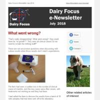 Dairy Focus Newsletter July 2018