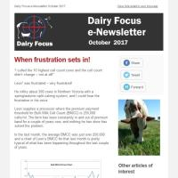 Dairy Focus Newsletter October 2017
