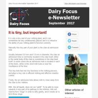 Dairy Focus Newsletter September 2017